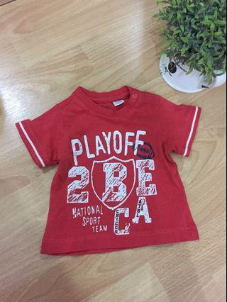 Chico Red Tee (0-3 mos)