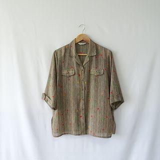 小草古著潮/vintage/生命樹/復古襯衫