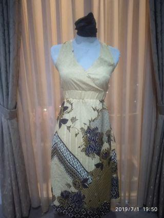 Halter Neck Batik Dress