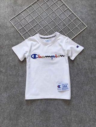 Champion rainbow words kids tee