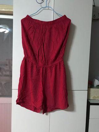 半截連身褲(紅色)L碼