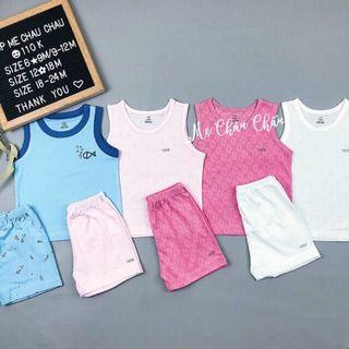 Set of sleeveless cotton set (NB - 12M)