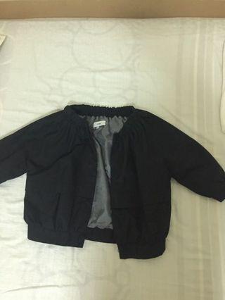 Croptop black jacket short sleeved