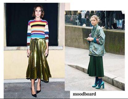 Pleats skirt panjang 89