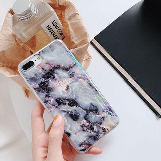 Marble Temperate Glass + TPU Case