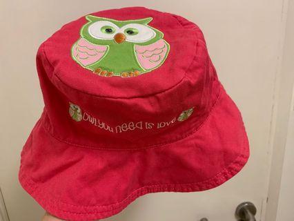 可愛貓頭鷹帽 雙面圖案