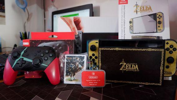 Nintendo Switch Grey 128gb cfw fullset dan bonus