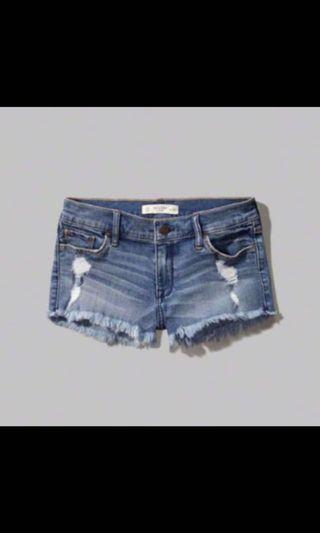 Authentic A&F Denim shorts