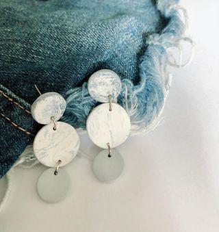 🚚 Handmade Clay Earrings - Denim Collection