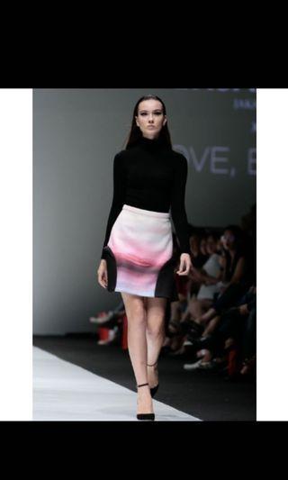 Love bonito tex Saverio printed skirt