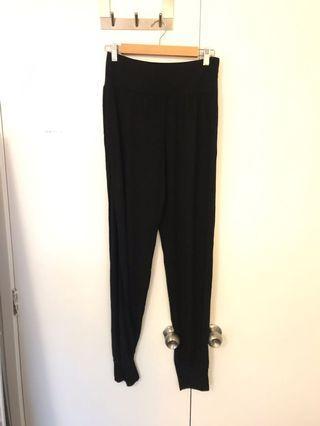 Jersey side split trousers