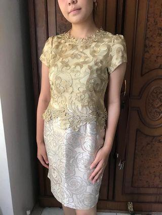 Dress kebaya mewah pesta | h&m zara mango stradivarius