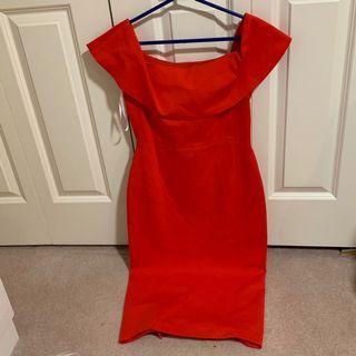Aritzia Ruslan Dress - Flame Scarlet