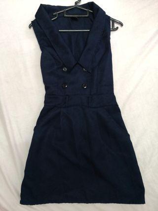 [Preloved] Dark Blue Mini Dress