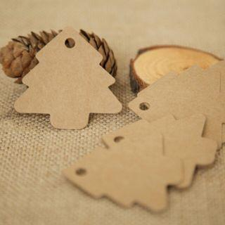 Kraft DIY Christmas Tree Hanging Tags