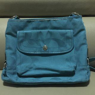 Coach Signature Blue Slingbag