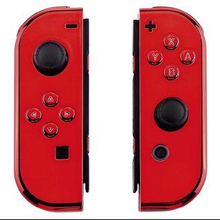 🎮 NS Chrome Red Joycon Replacement Shells + Installation