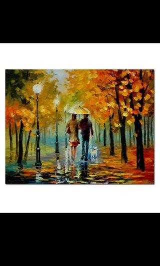 In stock -Couple canvas painting