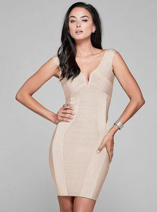 Marciano Off the Shoulder Bandage Dress