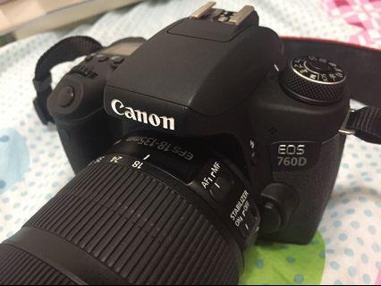 Canon 760d全配/什麼都不少/盒子都還在