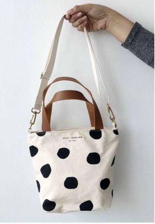 Chic and Darling Mini Spots Off White Sling Bag. Excellent condition 💚