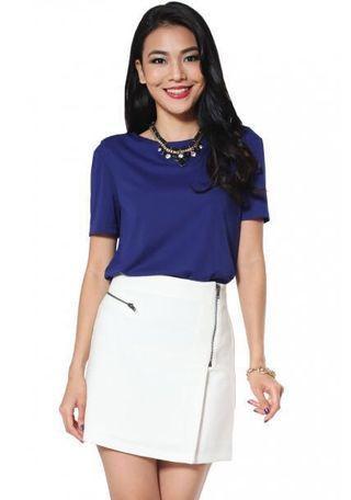 🚚 LoveBonito LB Zandra white skirt in XS