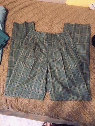 Brand new high waisted plaid vintage pants