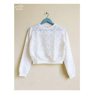 Korean White Sweater