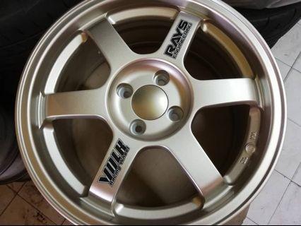 Sport rim baru volk rays te37 light gold 16inch