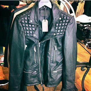 Allsaints catch biker 全新小羔羊皮衣 UK12號