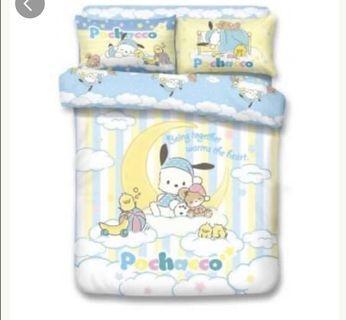 床單 雙人床單連枕頭套連被袋 pc狗