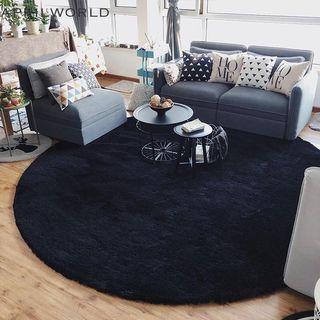 北歐簡約客廳黑色厚毛地毯(Black Minimal Carpet) #lalamove