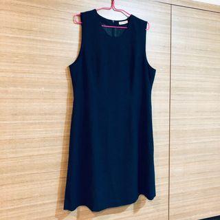 🚚 Navy Blue Formal Office Dress, sleeveless work/shift dress, loose fit #MRTRaffles #MRTJurongEast