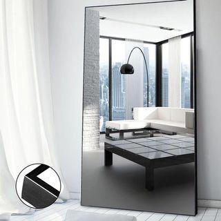 掛牆鏡(Mirror)黑色金屬幼鐵邊框 #Lalamove