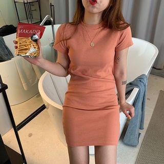 Orange peach dress