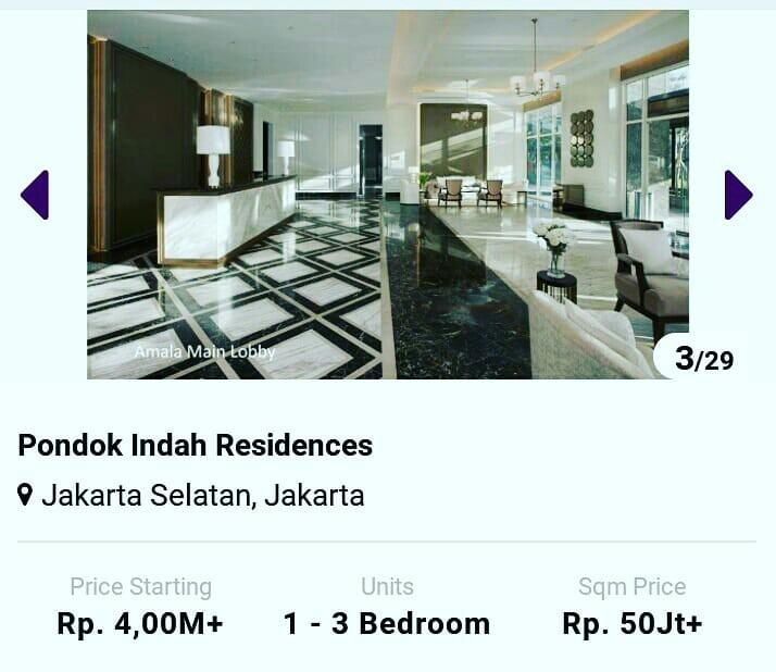 Apartemen Pondok indah Residence #maugopay