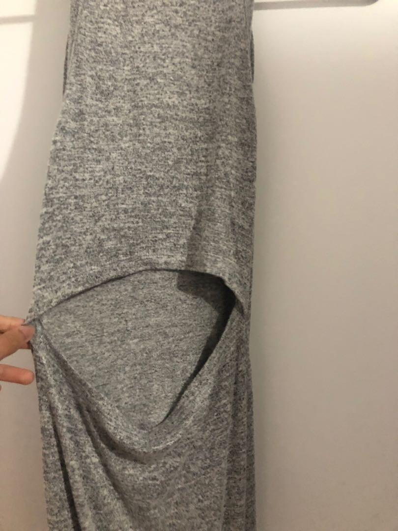 Aritzia Wilfred free grey dress xxs