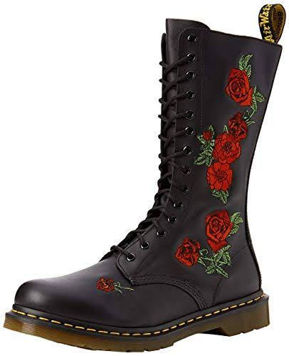 Black Doc Martens with Roses
