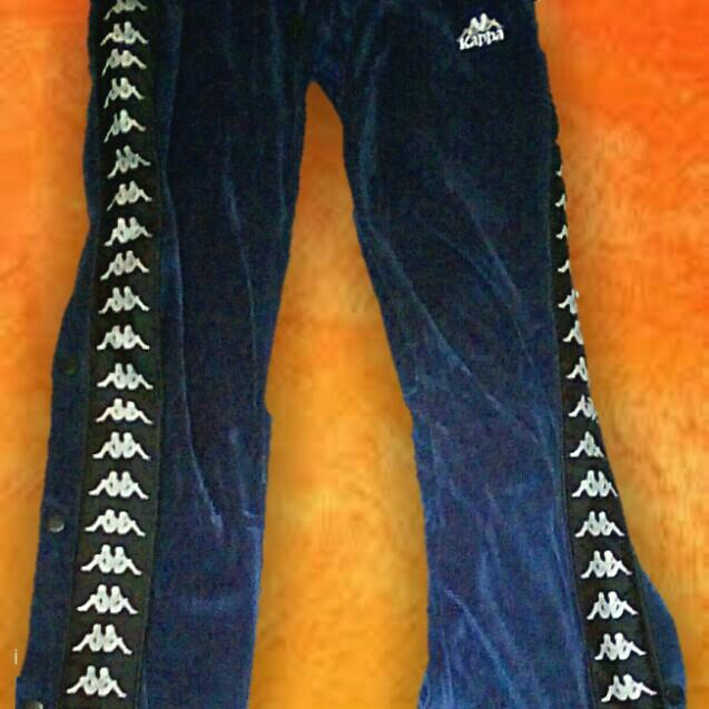 Bnwt kappa velour popper track pants size small RRP$90