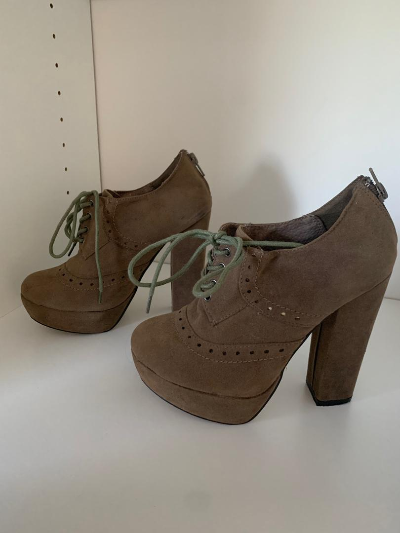 Cadet style suede heels (postage included in price)