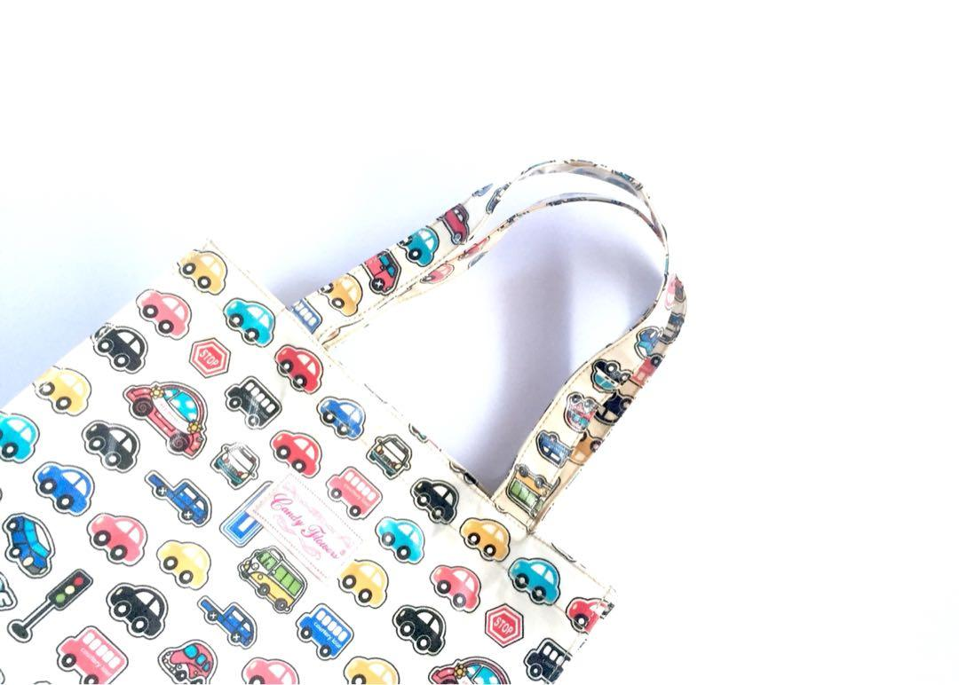 CANDY FLOWER TOTEBAG