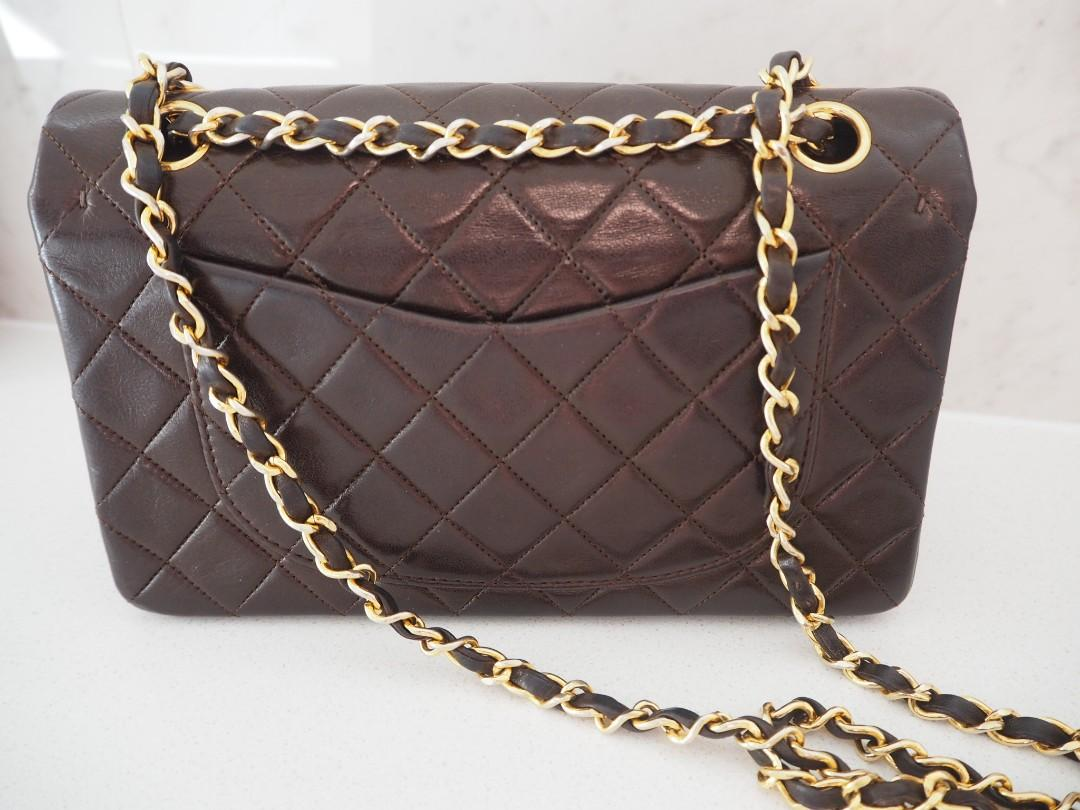 AUTHENTIC CHANEL DEEP BROWN SMALL VINTAGE