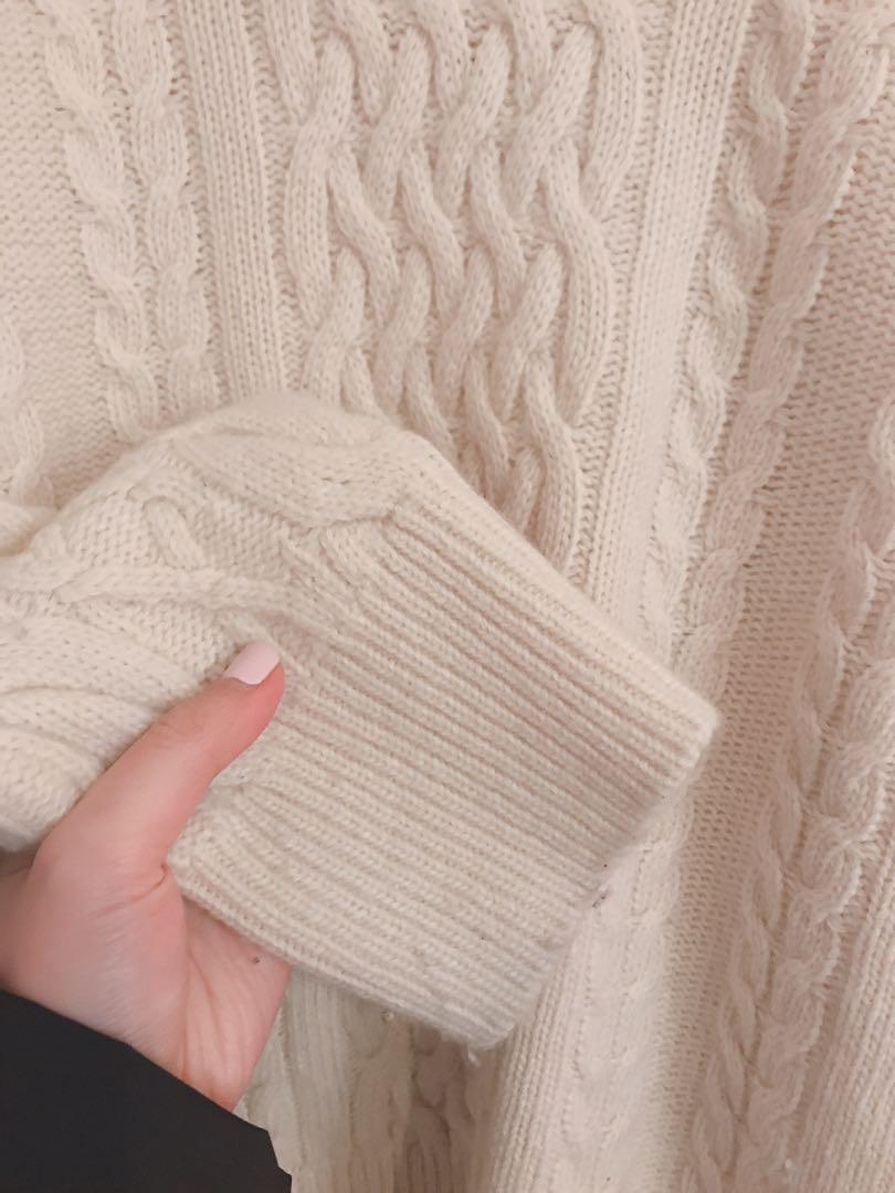 chunky cable knit sweater jumper olive oliveclothing