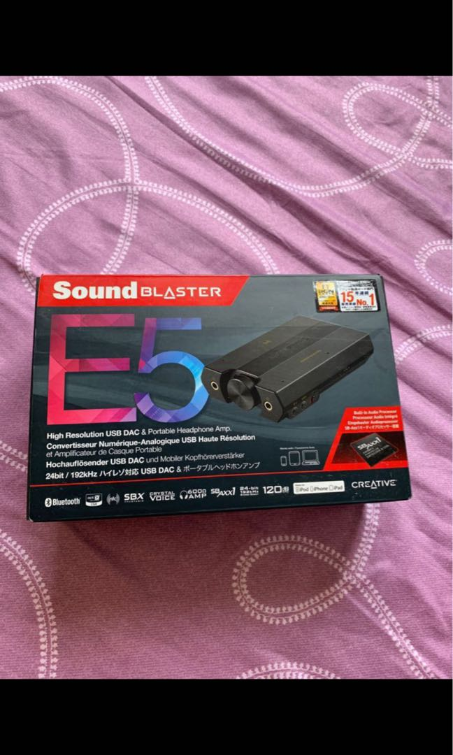 Creative sound blaster E5 on Carousell