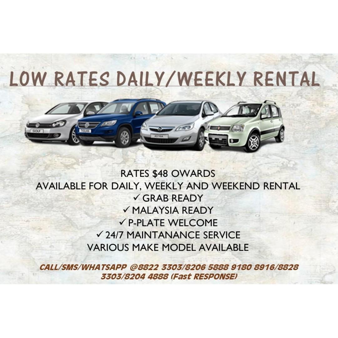 Daily / Weekend / Weekly car rental