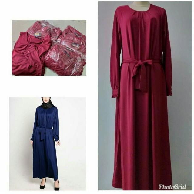 Gamis Elzatta Fesyen Wanita Muslim Fashion Gaun Di Carousell