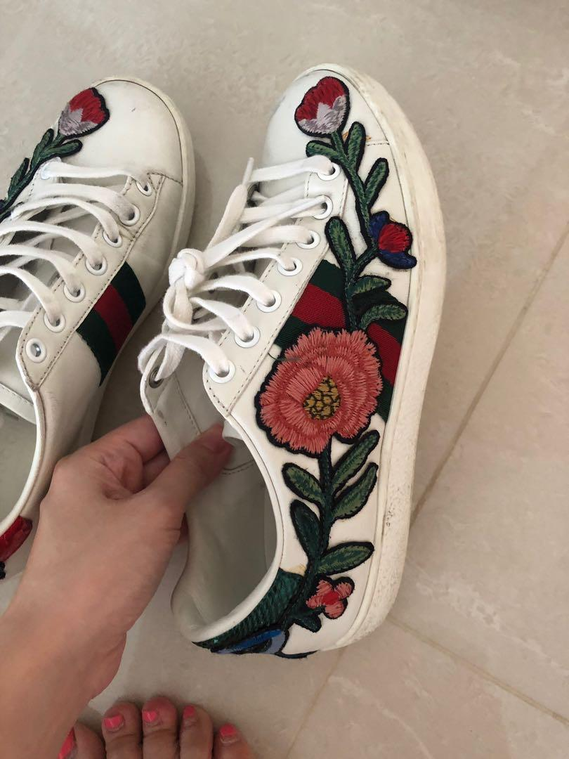Gucci Ace Floral Sneakers, Women's