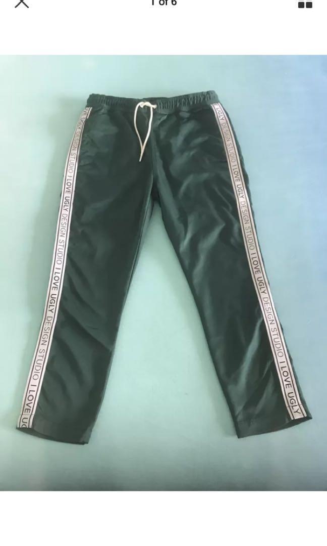 I Love Ugly Emerald Green tracksuit pants (small/regular)