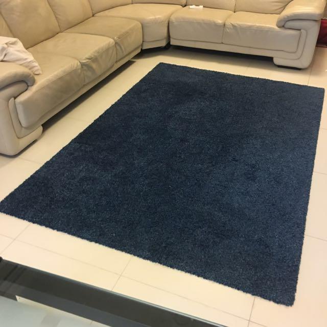 IKEA Alhede Rug (Blue), Furniture, Home