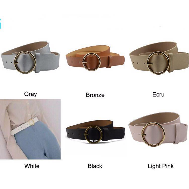 instocks - ulzzang basic circle belt